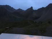 Ausblick aus dem Zimmer von der Memminger Hütte